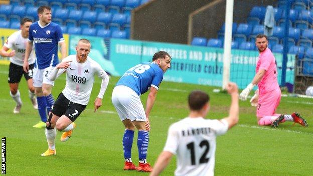 Connor Lemonheigh-Evans scores