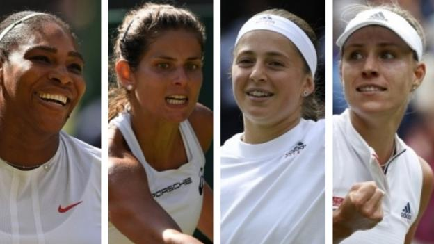 102478386 semi finalists - Wimbledon 2018: Serena Williams leads field in girls folk's semi-finals