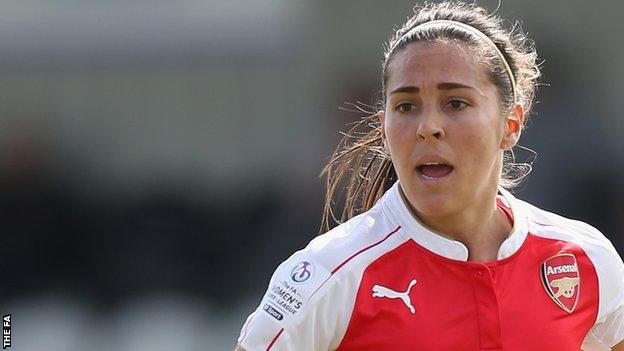 Fara Williams in action for Arsenal Ladies