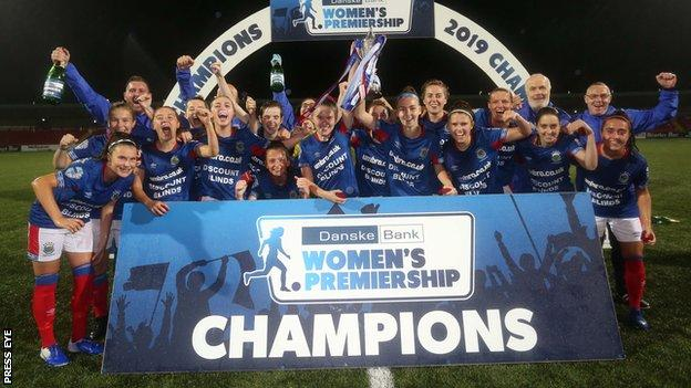 Linfield won their fourth Women's Irish Premiership title in a row in 2019