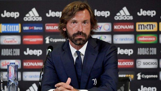 Andrea Pirlo is unveiled as manager of Juventus' Under-23s