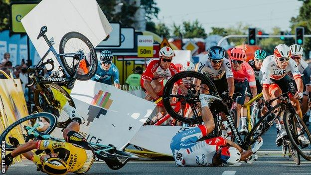 Fabio Jakobsen crash
