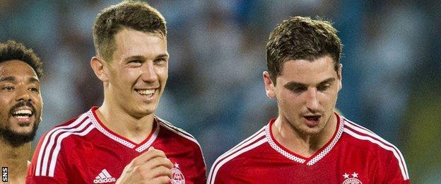 Aberdeen midfielders Ryan Jack and Kenny McLean