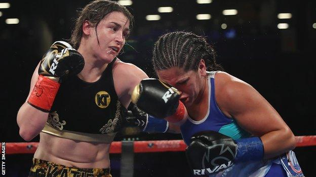 Katie Taylor hold the WBA and IBF lightweight titles