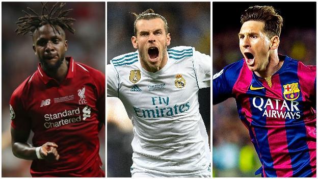 Divock Origi, Gareth Bale and Lionel Messi