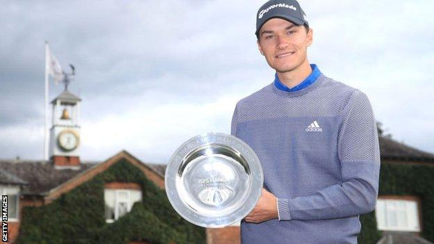 Rasmus Hojgaard wins play-off for second European Tour win
