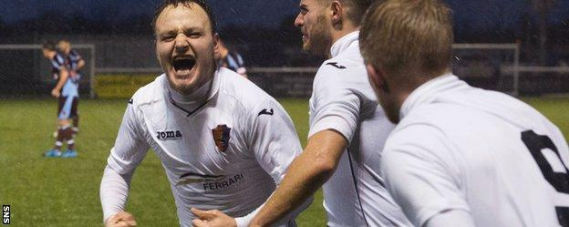 East Kilbride's Sean Winter celebrates his goal