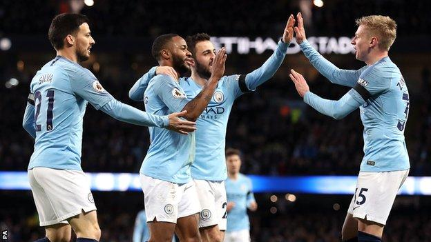 Manchester City became the first top-flight team since Tottenham in 1965 to score more than once in 15 consecutive home league matches