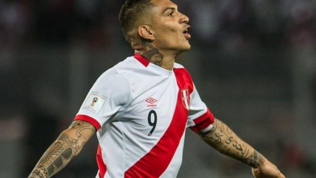Peru striker Paolo Guerrero
