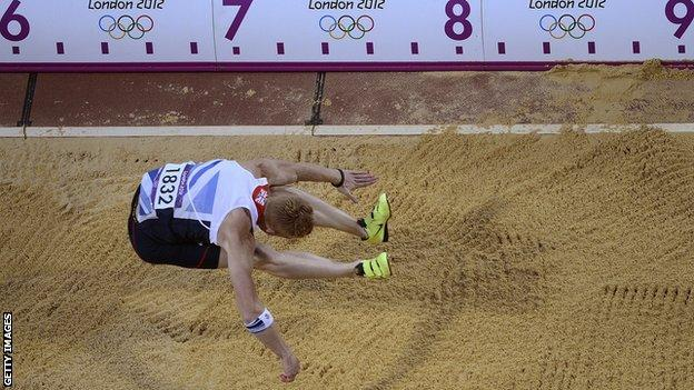 Greg Rutherford's winning jump at London 2012