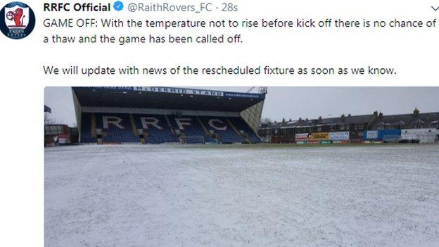 Raith Rovers broke the news on Twitter