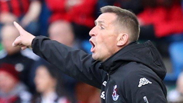 Stephen Baxter will take his Crusaders side to England next week to face Wolves