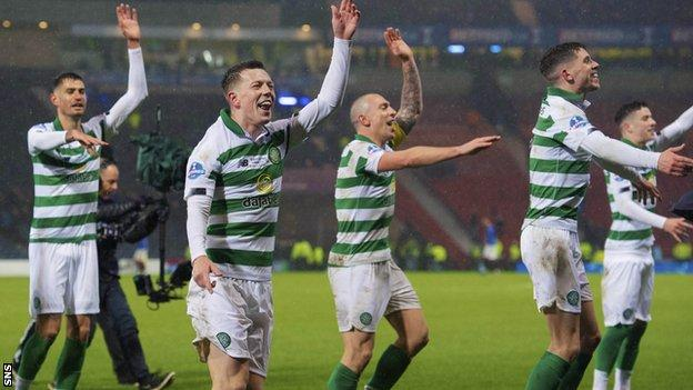 Celtic surged clear in 2020 to secure their 11th consecutive domestic trophy with a ninth title in a row