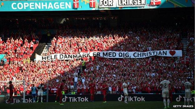 Tributes paid for recovering Denmark midfielder Christian Eriksen after he suffered a cardiac arrest
