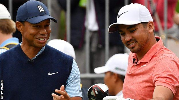 Tiger Woods (left) and Jason Day