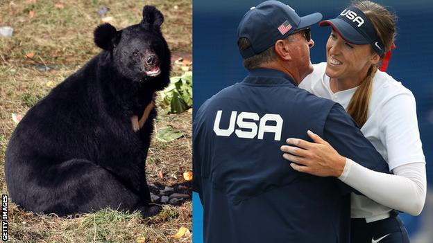 Asian black bears are commonly spotted in the Fukushima area, but this one managed to evade the US softball team