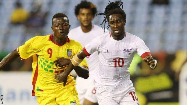 Action from Benin v Cape Verde at the 2017 WAFU Cup of Nations