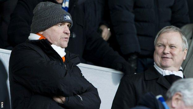 Stephen Thompson and Mike Martin in Dundee United's stand