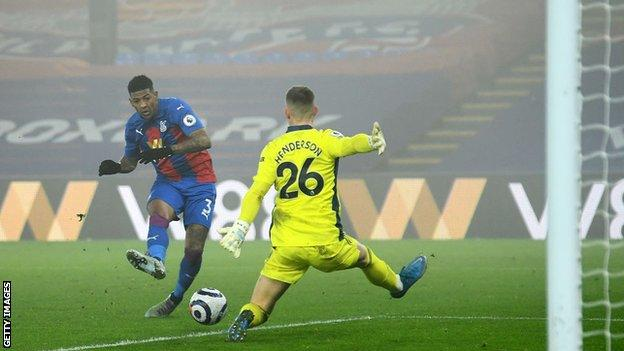 Patrick van Aanholt goes close late on