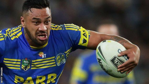 Kenny Edwards in action for Parramatta in the NRL