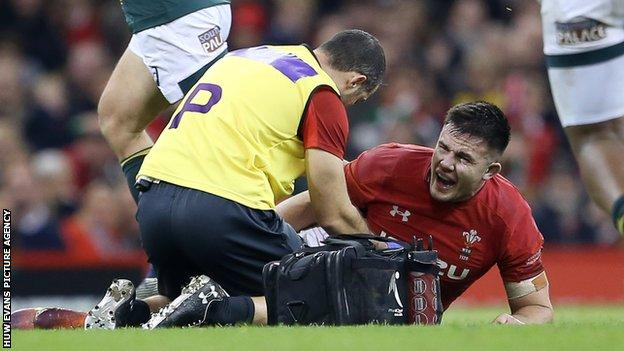 Ellis Jenkins' long-term knee injury came in the final moments of the win over South Africa