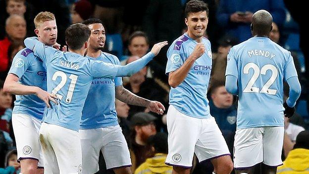 Rhodri opened the scoring for Manchester City