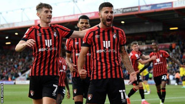 Emiliano Marcondes has scored the first goal of the new league season on his league debut at Bournemouth