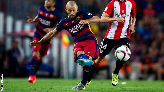 Barcelona player Javier Mascherano