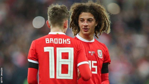 Wales youngsters Ethan Ampadu and David Brooks
