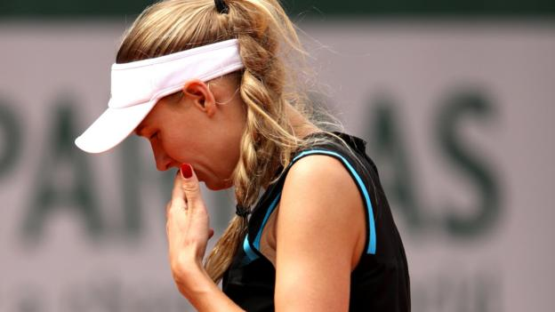 French Open: Caroline Wozniacki knocked out in first round thumbnail