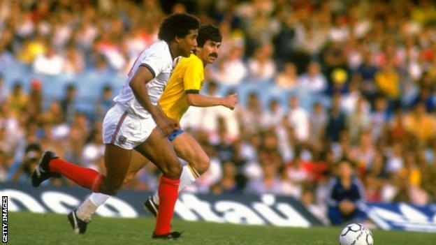 John Barnes scored one of England's most iconic goals against Brazil in 1984 at the Maracana