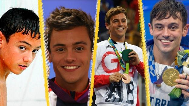 Tom Daley is competing in his fourth Olympics after Beijing 2008, London 2012 and Rio 2016