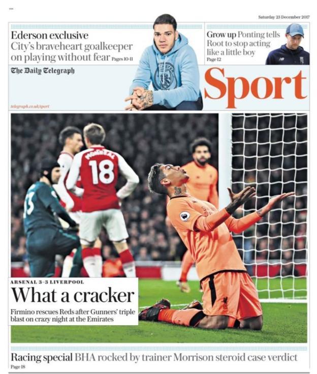 Saturday's Telegraph