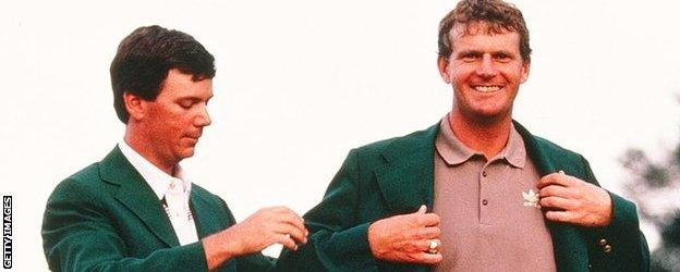Lyle was the first Briton to win the Masters and wear the famous Green Jacket