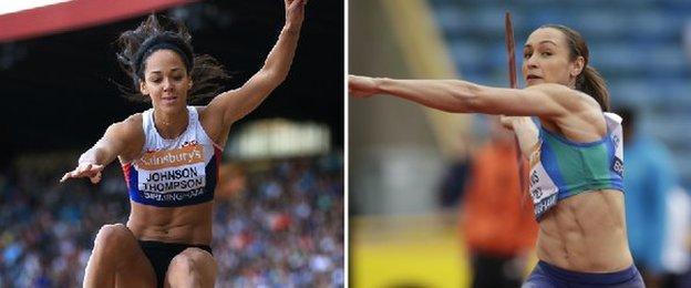 Katarina Johnson-Thompson and Jessica Ennis-Hill could face one another in Beijing