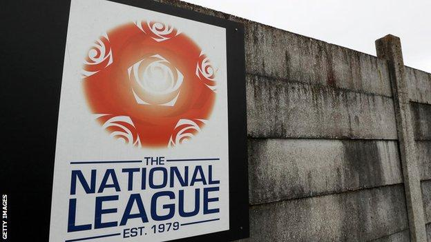 National League sign