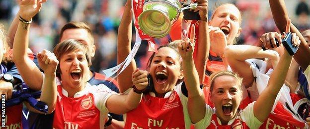 Arsenal Ladies celebrate Women's FA Cup win