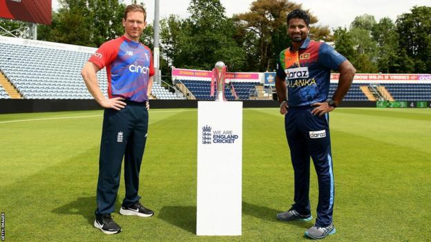 England captain Eoin Morgan and Sri Lanka skipper Kusal Perera