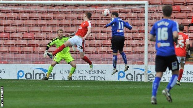 Chesterfield striker Lee Novak