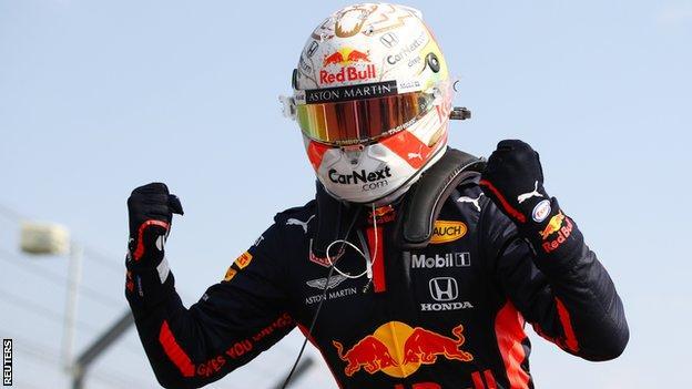 Max Verstappen wins the 70th Anniversary Grand Prix