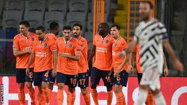 istanbul basaksehir 2 1 man utd demba ba scores comical goal what now for solskjaer bbc sport man utd demba ba scores comical goal