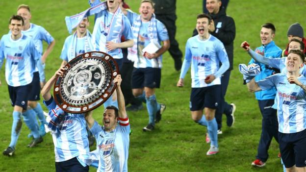 Celebrations continue for the Braidmen after the Showgrounds club secured a sixth success in the Co Antrim Shield
