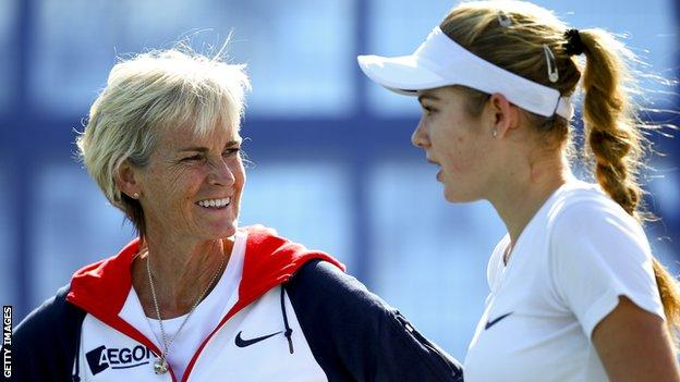GB Fed Cup captain Judy Murray has selected Katie Swann in the singles