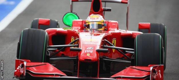 Luca Badoer in action at the 2009 Belgium