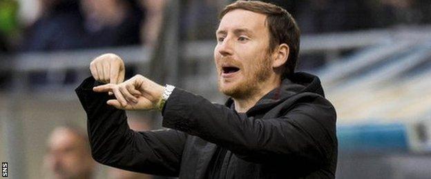 Hearts head coach Ian Cathro