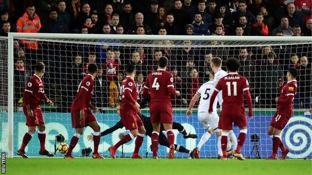 Swansea City 1 0 Liverpool Bbc Sport