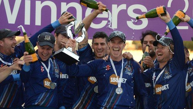 Gloucestershire celebrate victory