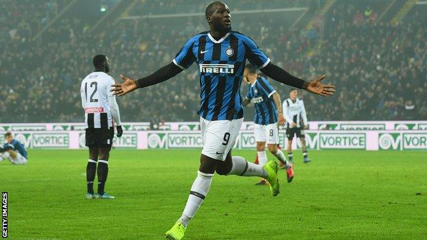Udinese 0 2 Inter Milan Romelu Lukaku Keeps Up Impressive Scoring Record To Seal Inter Win Bbc Sport