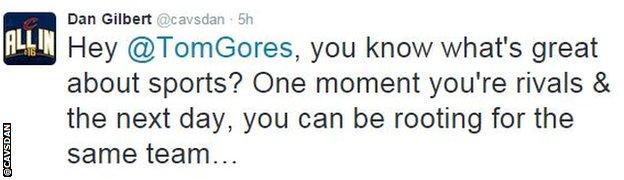 Dan Gilbert tweet