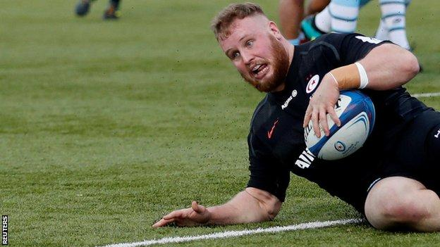 Christian Judge scores on his European Champions cup debut